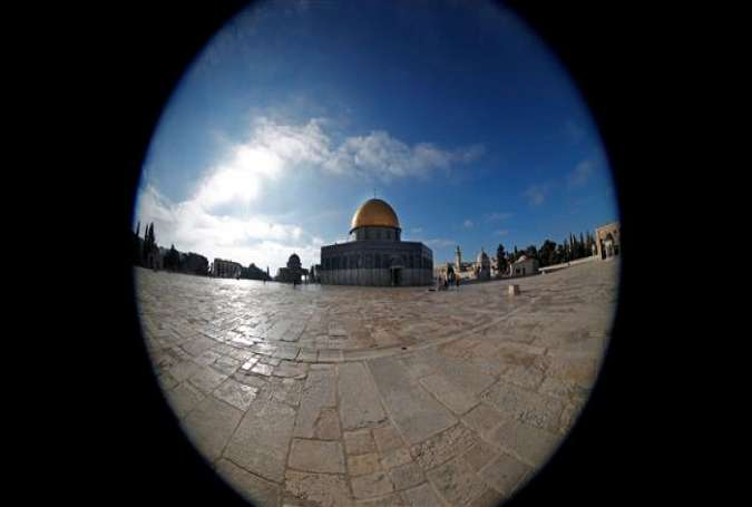 This AFP picture made with a fisheye lens on January 10, 2017, shows the Dome of the Rock mosque at the Al-Aqsa mosque compound, in Jerusalem al-Quds.