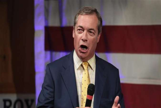 British politician Nigel Farage speaks at a campaign event for Republican candidate for the US Senate in Alabama Roy Moore, on September 25, 2017, in Alabama. (Getty Images)