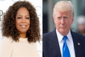 Oprah Winfrey (L) and Donald Trump