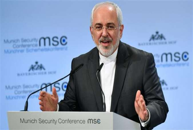 Iranian Foreign Minister Mohammad Javad Zarif gives a speech during the Munich Security Conference on February 18, 2018 in Munich, southern Germany. (Photo by AFP)