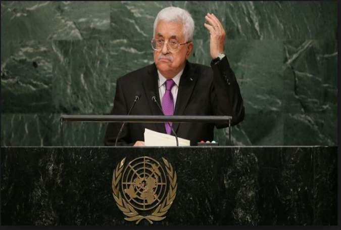 Palestinian President Mahmoud Abbas at UN General Assembly.