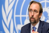 United Nations (UN) High Commissioner for Human Rights Zeid Ra'ad al-Hussein delivers a press conference on a report on Venezuela at the UN Offices in Geneva, August 30, 2017. (Photo by AFP)