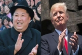 This AFP combination of pictures created on March 09, 2018 shows North Korea leader Kim Jong-un (L) and US President Donald Trump