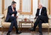 Iranian Foreign Minister Mohammad Javad Zarif (R) and the president of the International Committee of the Red Cross, Peter Maurer, meet in Tehran on March 11, 2018. (Photo by Tasnim news agency)