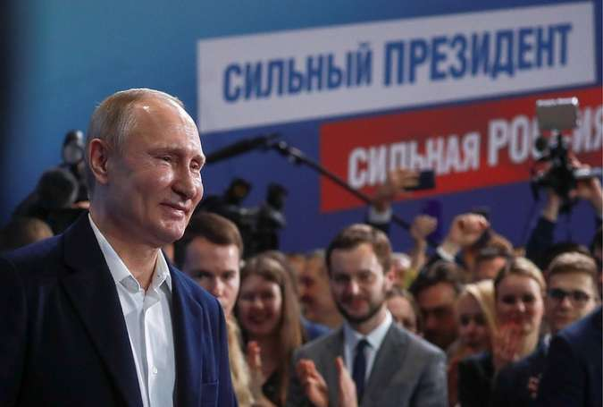 Putin Reelected Russian President in Landslide Victory