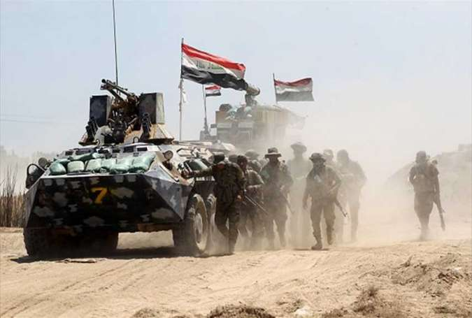 Iraqi forces in an anti-terrorist operation