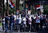 "Demo Warga Suriah Dukung Bashar al-Assad  <img src=""/images/picture_icon.gif"" width=""16"" height=""13"" border=""0"" align=""top"">"