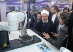 Iranian President Hassan Rouhani is shown at a ceremony to mark National Nuclear Technology Day in Tehran