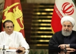 Iran's President Hassan Rouhani (R) and his Sri Lankan counterpart Maithripala Sirisena hold a joint news conference in Tehran, May 13, 2018. (Photo by IRNA)