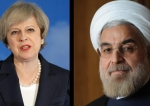 British Prime Minister Theresa May and Iranian President Hassan Rouhani