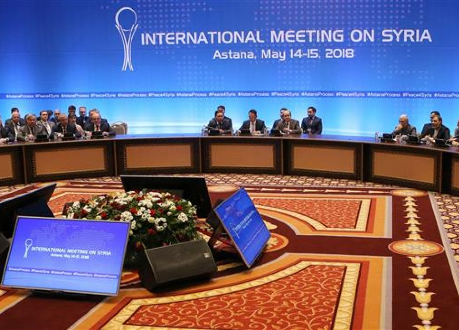A general view of peace talks on Syria in the Kazakh capital of Astana, May 15, 2018 (Photo by AFP)