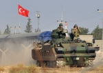 Turkish security forces patrol
