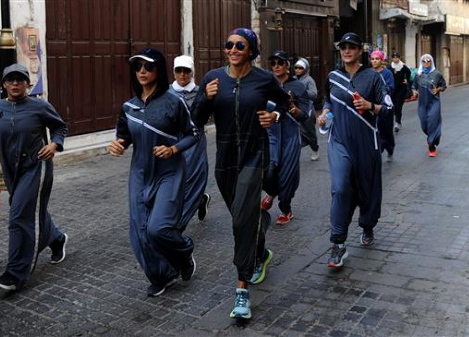 Saudi women jog in the streets of Jeddah as they are experiencing newly-announced freedoms while Saudi Arabia continues its heavy-handed crackdown on voices of dissent.