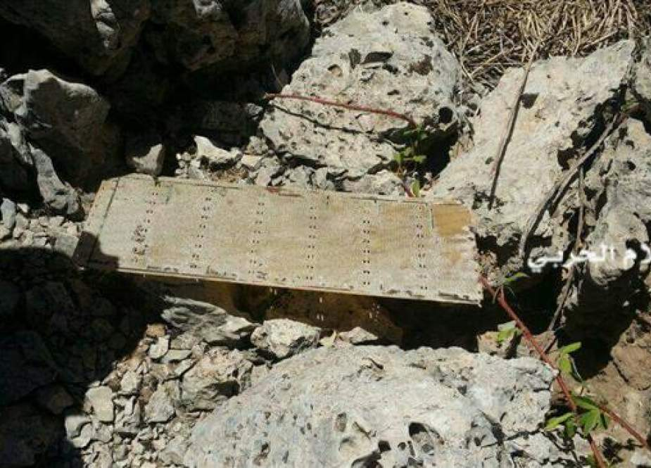 This photo shows an Israeli spying device found by the Lebanese Hezbollah fighters on the outskirts of Barouk village, southwestern Lebanon, on August 13, 2017. (Photo by al-Manar television network)
