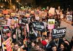 Protesters demonstrate against Donald Trump
