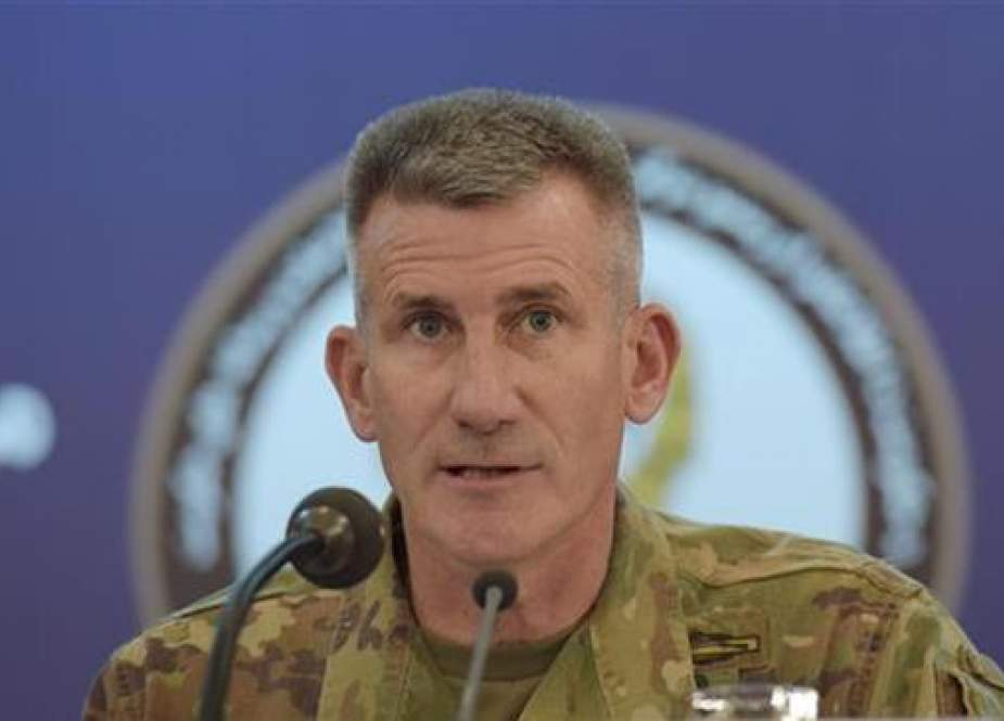 US Army General John Nicholson speaks during a joint press conference in Kabul on November 20, 2017. (Photo by AFP)