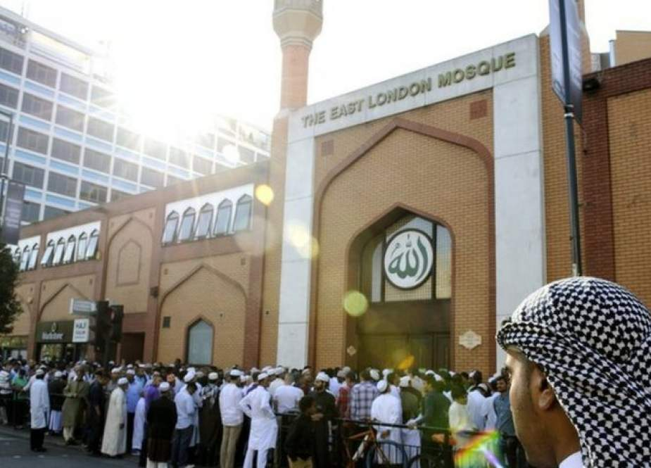 File photo of Muslims outside the East London Mosque.