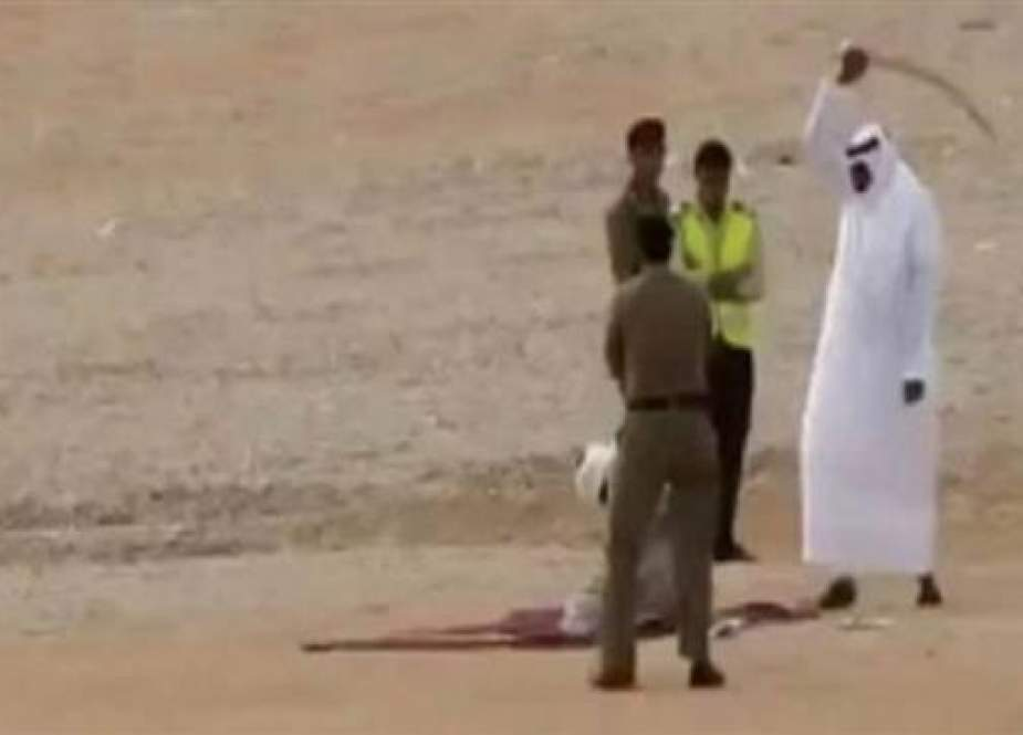 A file photo of an execution in Saudi Arabia