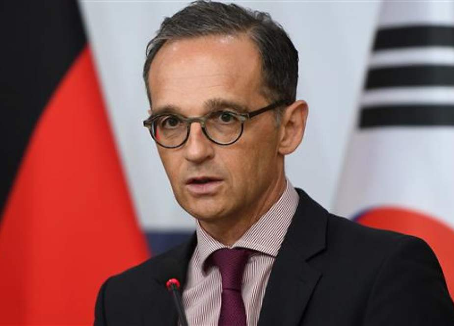 German Foreign Minister Heiko Maas speaks during a joint press conference with South Korean Foreign Minister Kang Kyung-wha (not seen) in Seoul on July 26, 2018. (Photo by AFP)