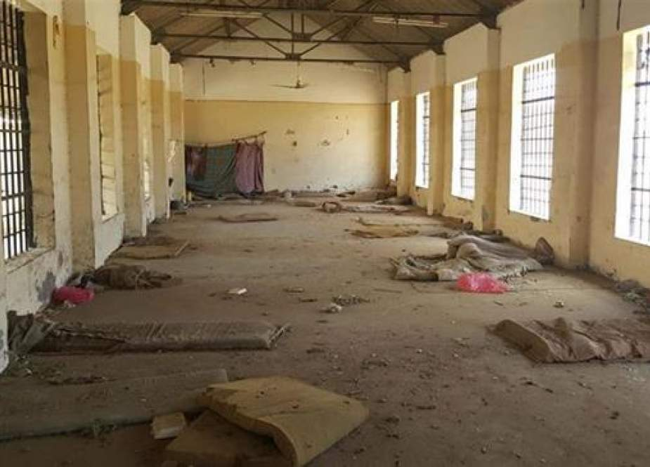 A deserted cell in the public section of Aden Central Prison (Photo by AP)
