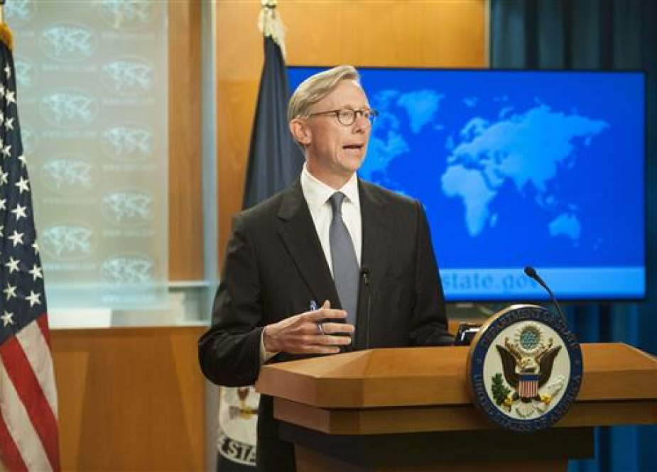 Director of Policy Planning Brian Hook fields questions from journalists during the announcement of the creation of the Iran Action Group at the United States State Department, Washington, DC, August 16, 2018. (Photo by AFP)
