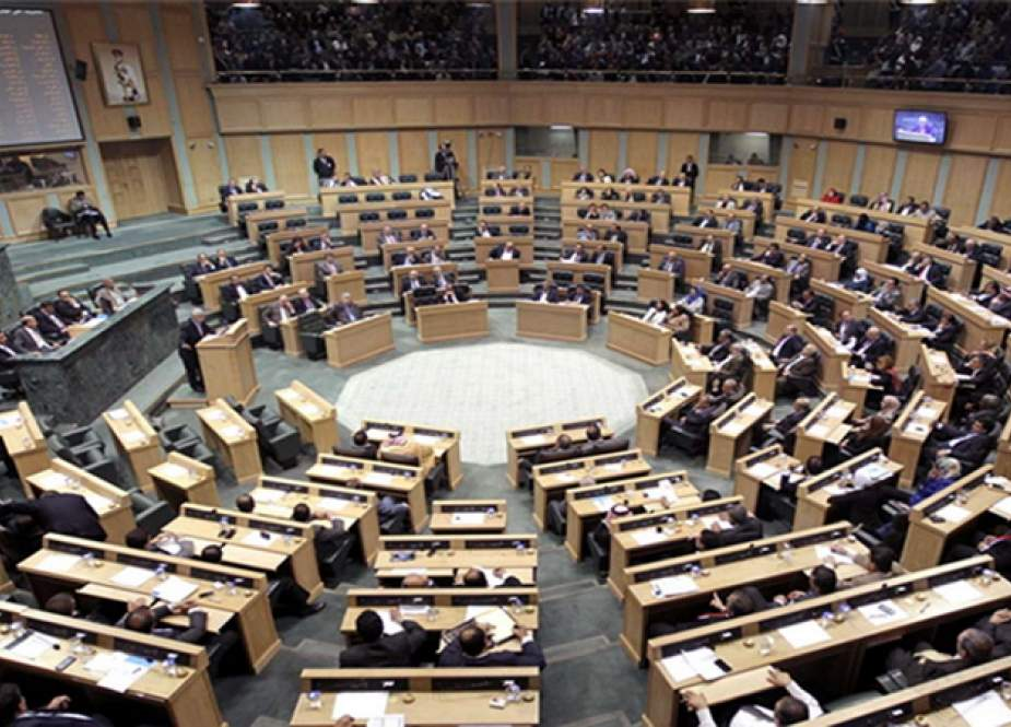 This file photo shows a general view of the Jordanian Parliament's interior.