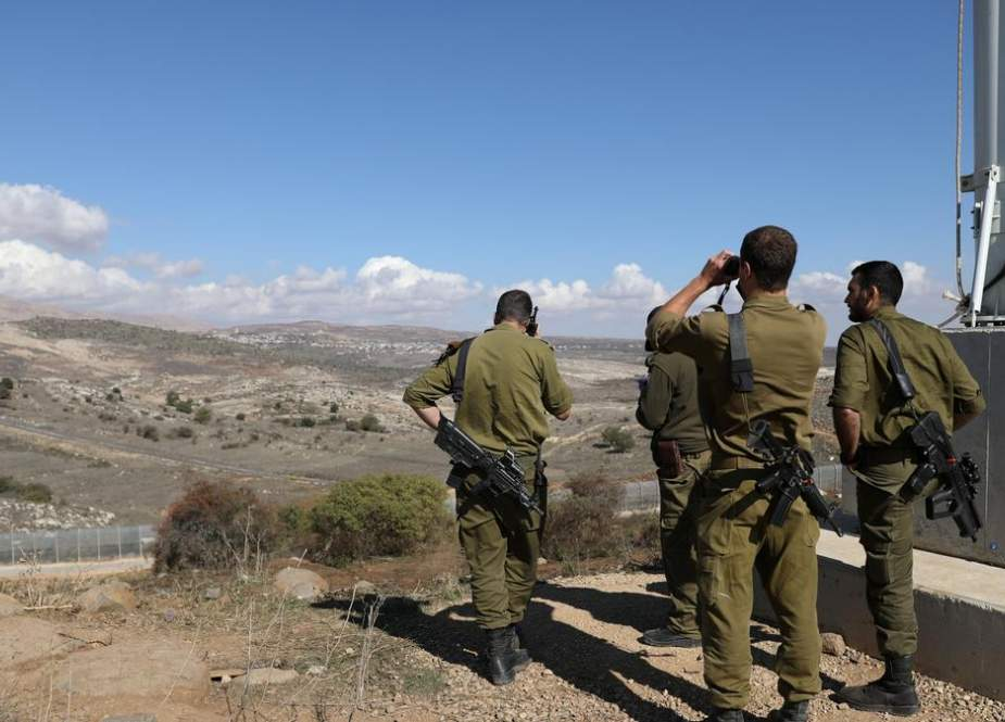 Israeli soldiers near the Syrian border in the Israel-occupied Golan Heights