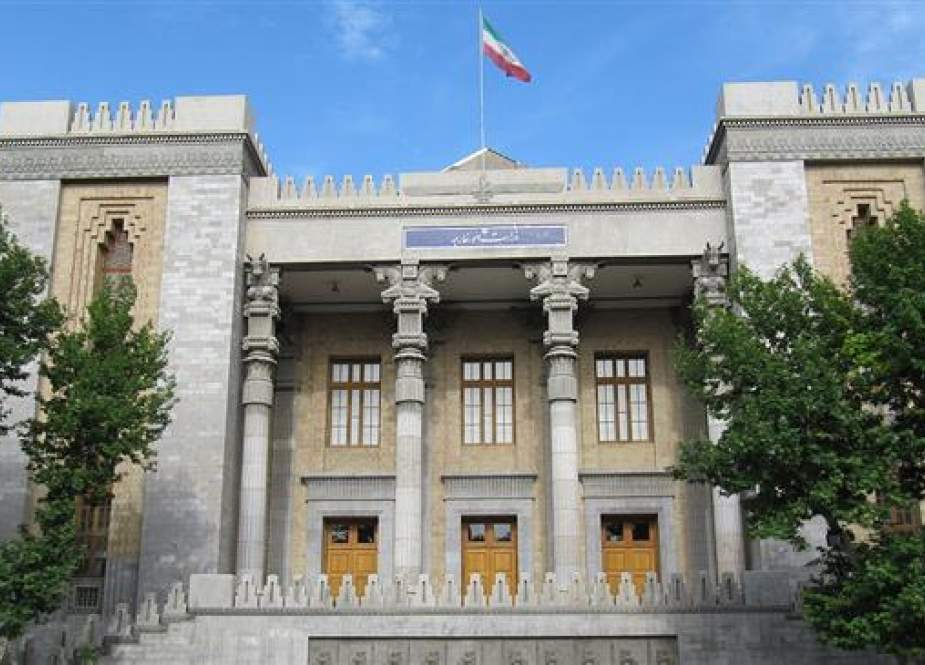 The file photo shows a view of the building of the Iranian Foreign Ministry in Tehran.