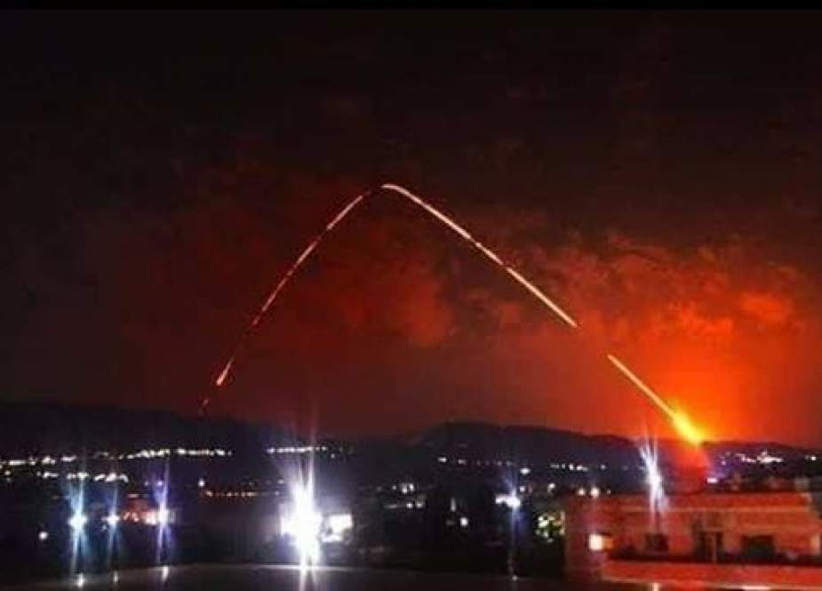 Syrian missile defense system has downed a number of missiles fired from sea.jpg