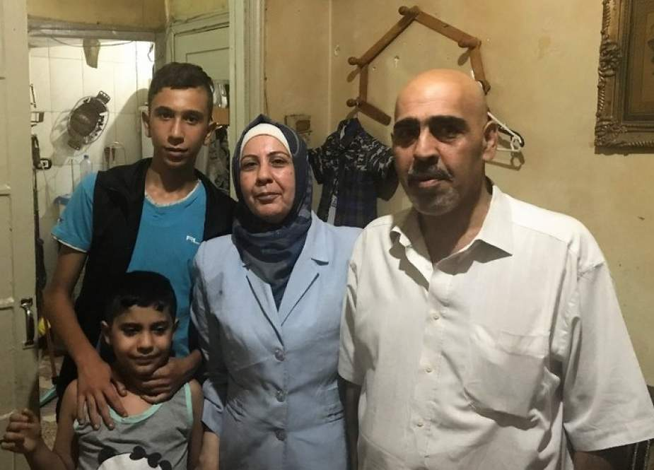 A family of a kidnapped Syrian boy: Wafaa, Mohammed Ibrahim, Lotfe and Hamza