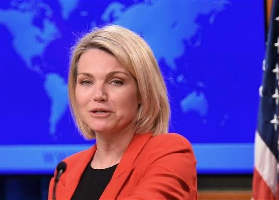 File photo of US State Department spokesperson Heather Nauert