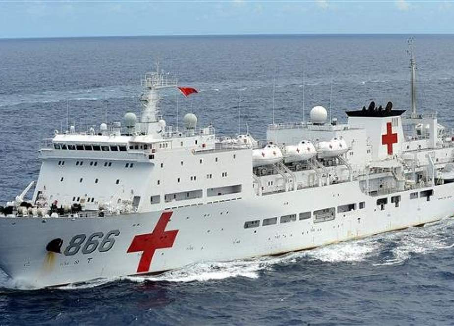 The Chinese naval hospital ship Daishan Dao, also known as the Peace Ark (file photo)