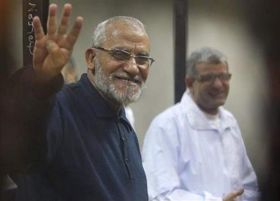 The undated photo shows Egypt's Muslim Brotherhood Supreme Guide Mohamed Badie.