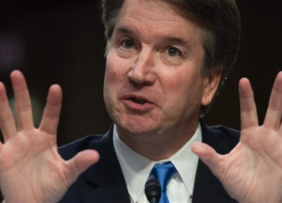 In this file photo taken on September 5, 2018; US Supreme Court nominee Brett Kavanaugh speaks on the second day of his confirmation hearing in front of the US Senate in Washington DC. (Photo by AFP)