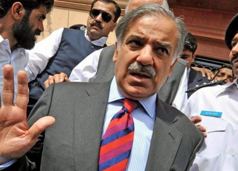 The file photo shows Shahbaz Sharif, brother of Pakistan