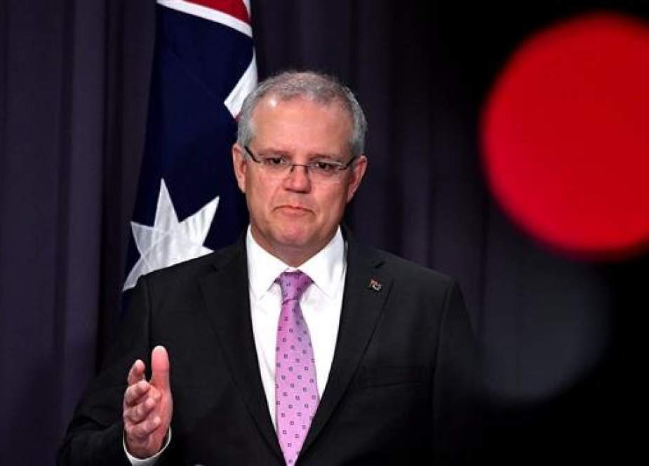 Australian Prime Minister Scott Morrison speaks to the media during a press conference at Parliament House in the capital, Canberra, on October 16, 2018. (Photo by Reuters)