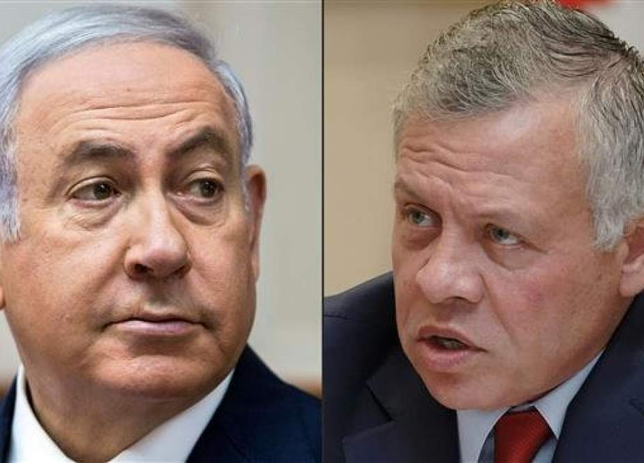 This combination of pictures shows Israeli Prime Minister Benjamin Netanyahu, left, and Jordanian King Abdullah II. (Photo by AFP)