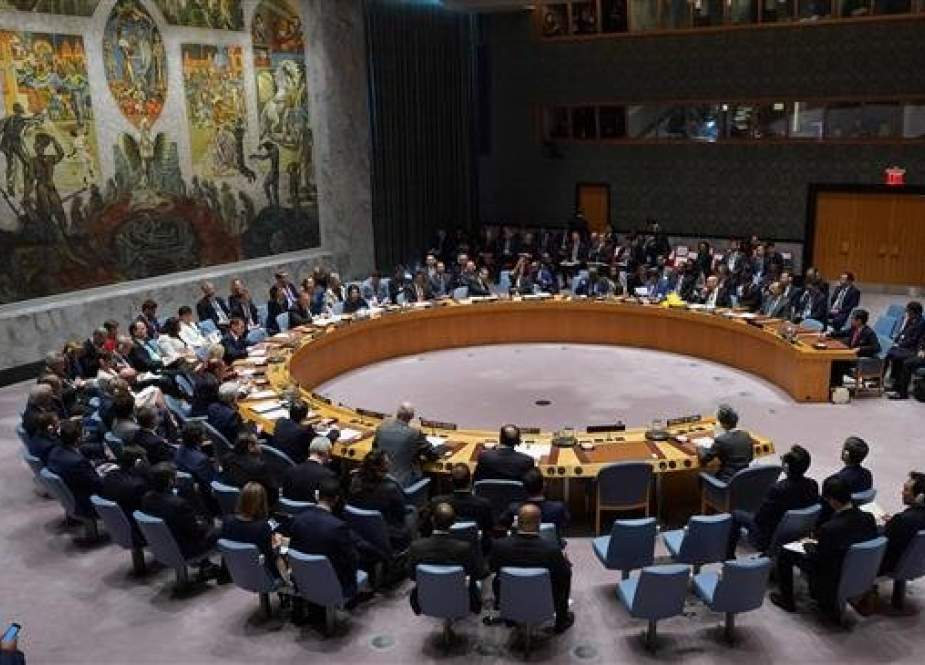 Members of the United Nations Security Council (UNSC) are seen at the UN headquarters in New York, the United States, on September 27, 2018. (File photo)