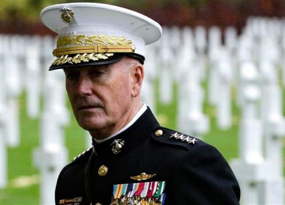 US General Joseph Dunford visits the Aisne-Marne American Cemetery and Memorial in Belleau, on November 10, 2018 as part of commemorations marking the 100th anniversary of the November 11, 1918 armistice, ending World War I. (Photo by AFP)
