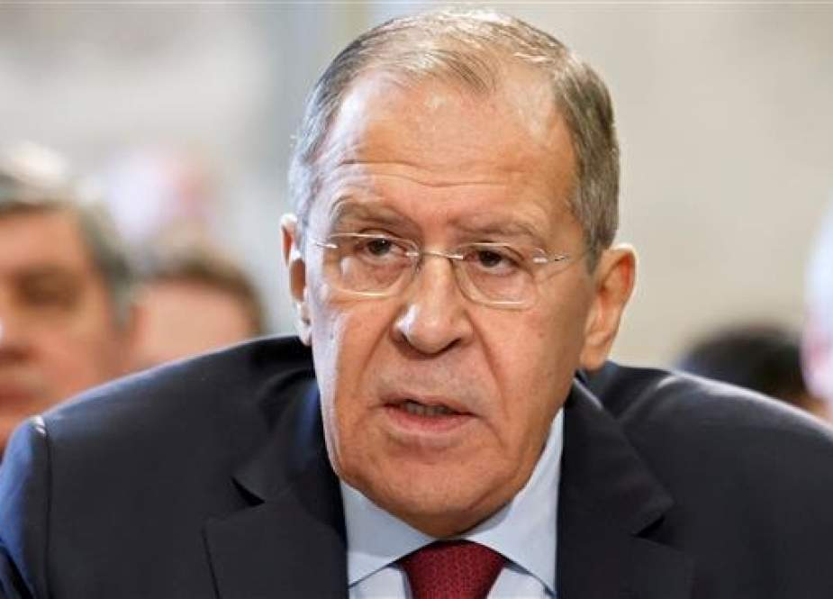 Russian Foreign Minister Sergei Lavrov delivers his statement, during the United Nations Conference on November 28, 2018 at the UN Offices in Geneva. (Photo by AFP)