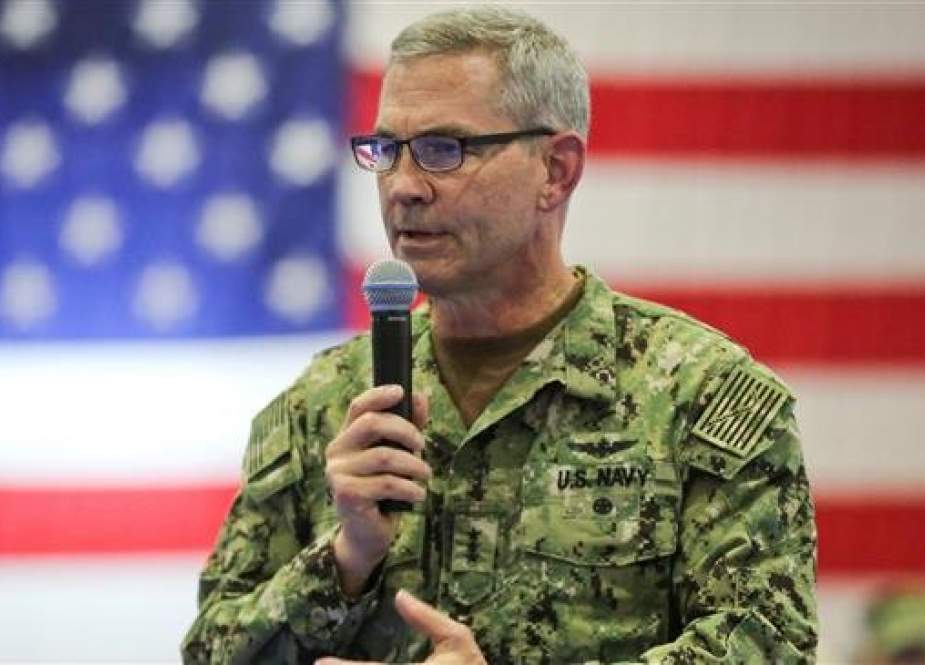 File photo of Vice Adm. Scott Stearney, commander of US Naval Forces Central Command, US 5th Fleet and Combined Maritime Forces.