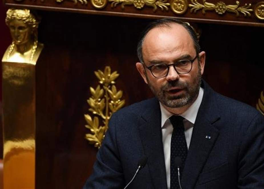 French Prime Minister Edouard Philippe delivers a speech during a session at the French National Assembly in Paris on December 5, 2018. (Photo by AFP)