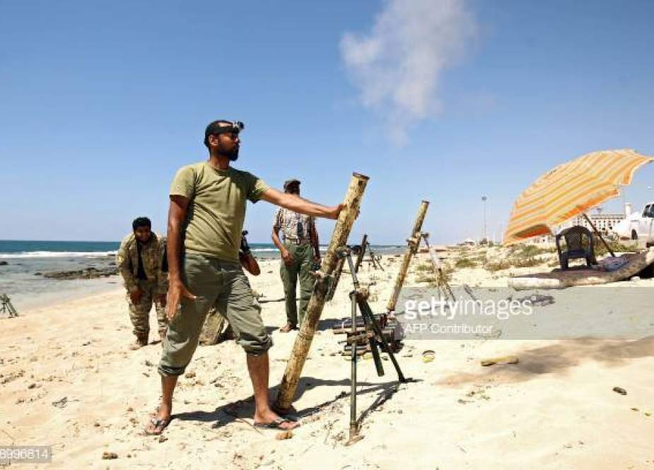 Members of the self-styled Libyan National Army, loyal to the country