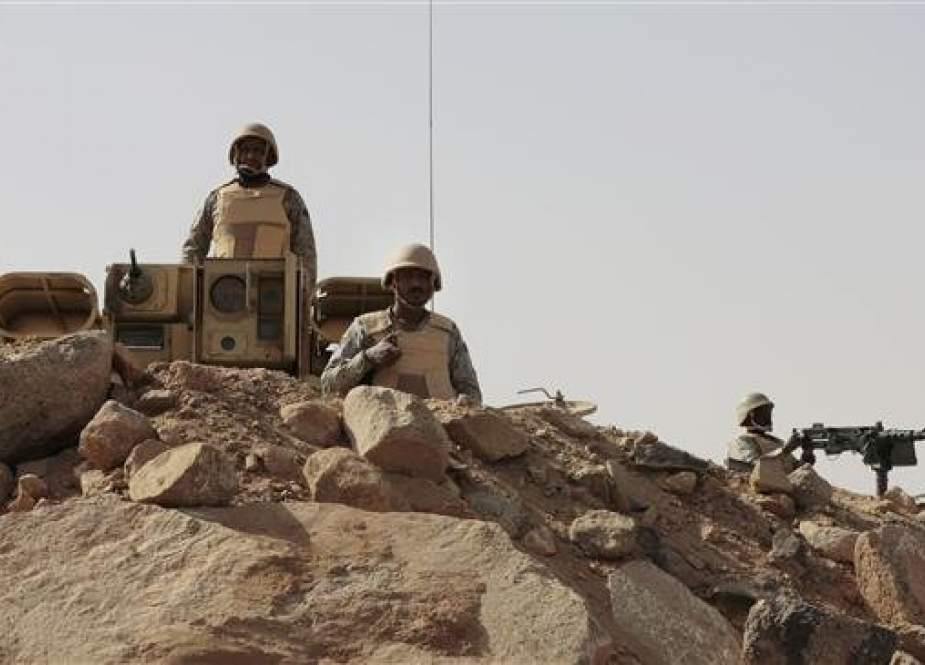 This file photo shows Saudi Arabian forces stationed in the kingdom