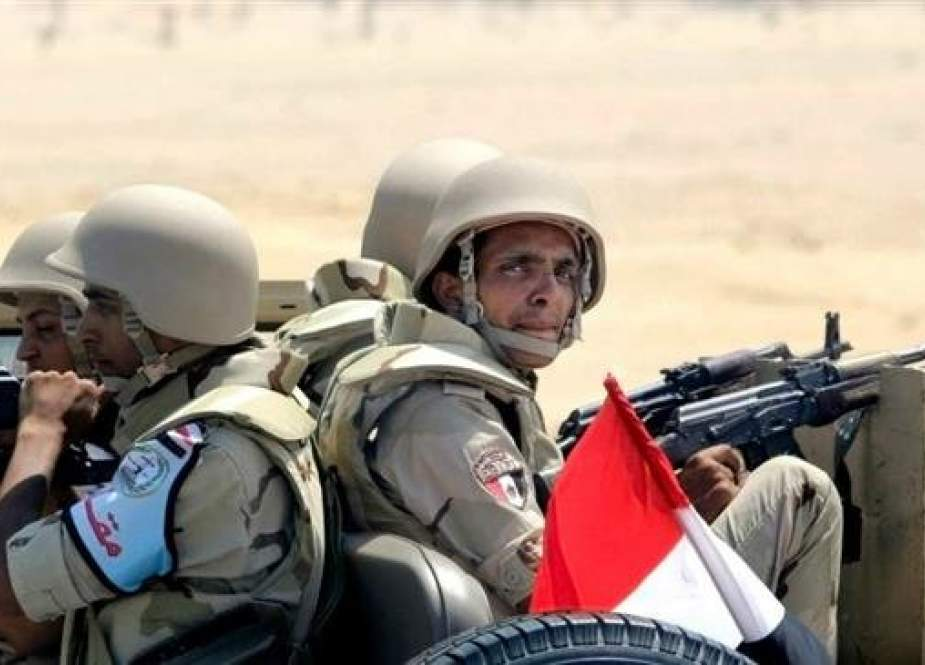 Egyptian army soldiers are seen in this undated photo.