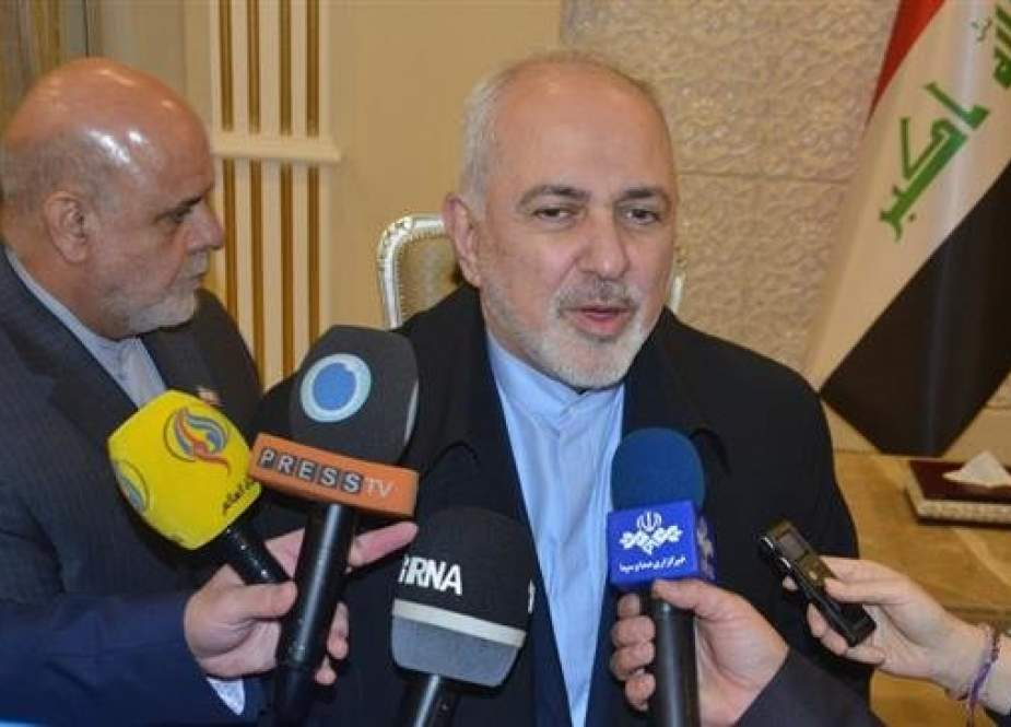 Mohammad Javad Zarif -Iranian Foreign Minister speaks to reporters.jpg
