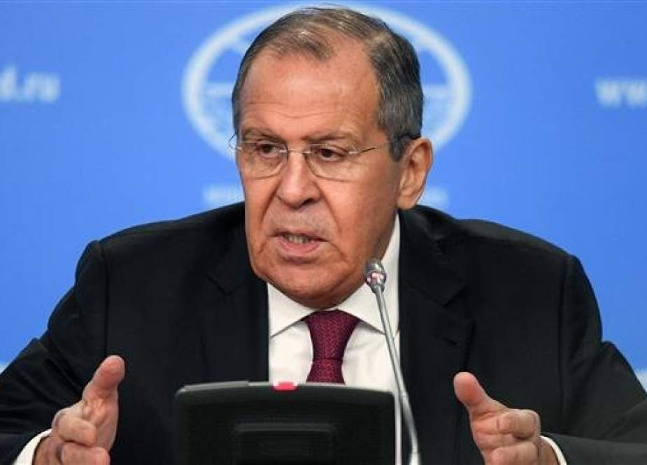 Russian Foreign Minister Sergei Lavrov gives his annual press conference in Moscow, Russia, on January 16, 2019. (Photo by AFP)