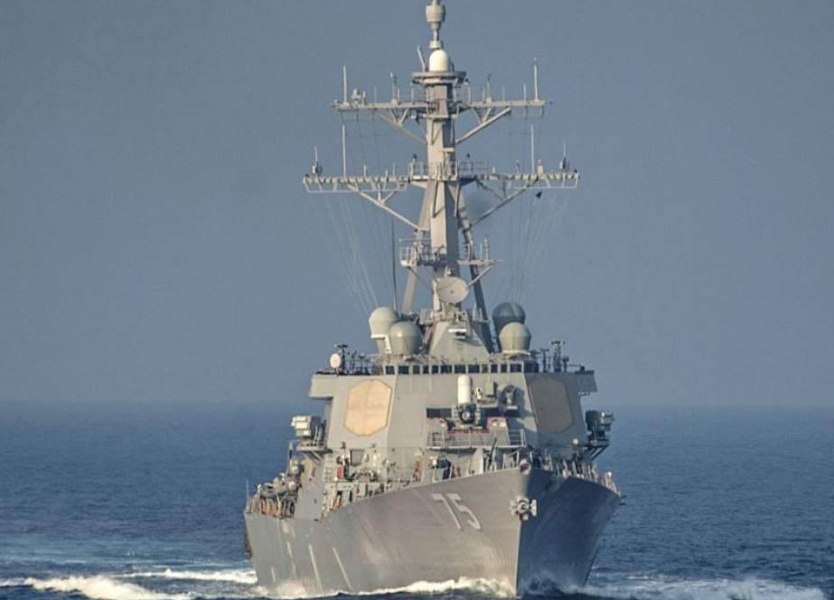 A file photo of the guided-missile destroyer USS Donald Cook in the Mediterranean Sea on December 15, 2014 (Photo by EPA)