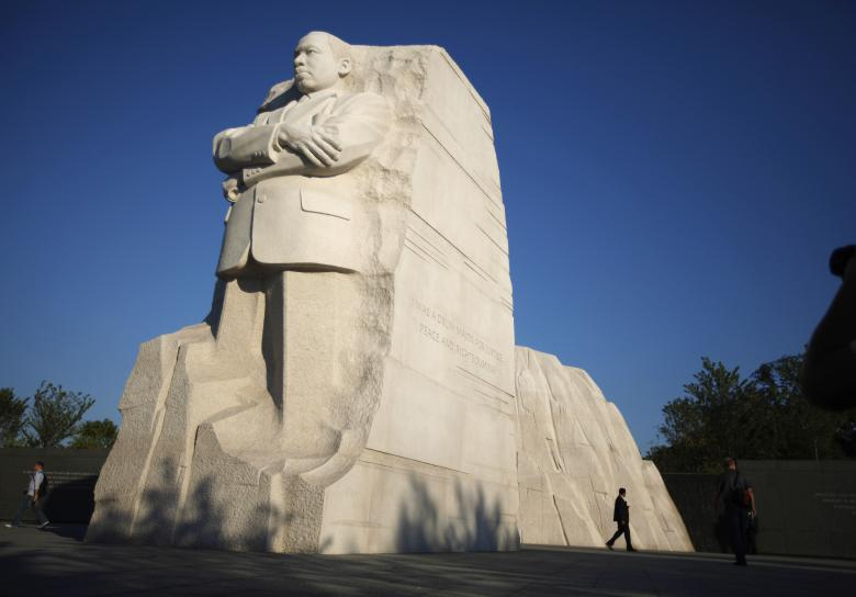 The Martin Luther King Jr. Memorial is shown in Washington August 22, 2011. The memorial to the American civil rights leader was officially dedicated on August 28, 2011, the 48th anniversary of King's