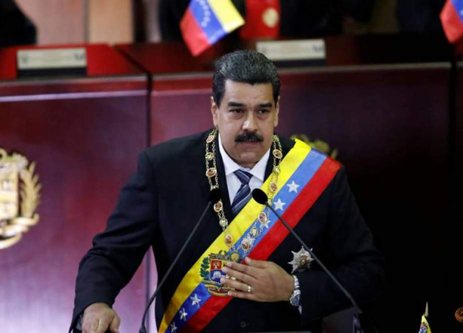 Venezuelan President Nicolas Maduro attends the opening ceremony of the judicial year at the Supreme Court of Justice in Caracas, on January 24, 2019.